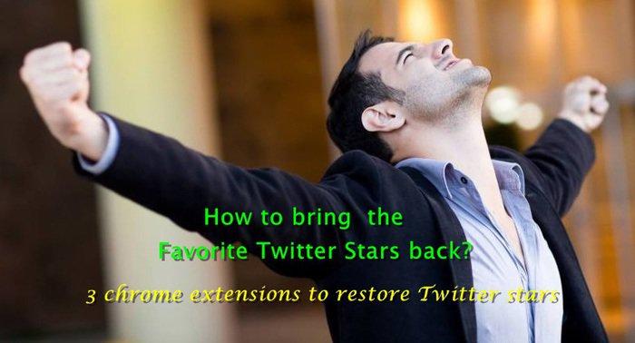 restore Twitter stars back