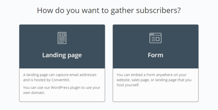 Convertkit review email marketing service has in built landing page feature