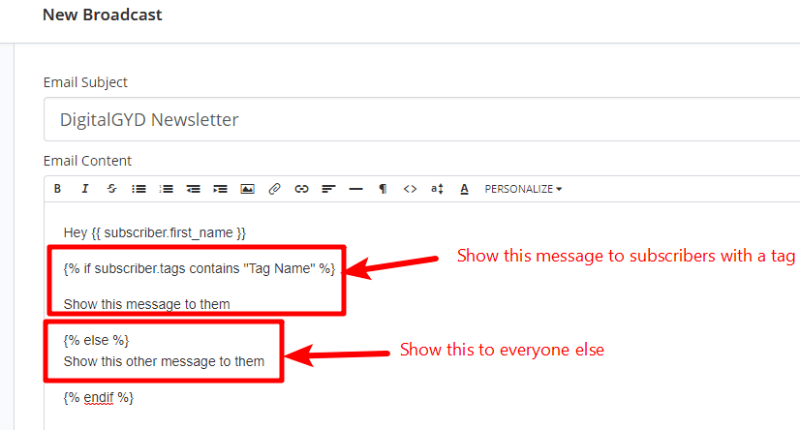 How to use tags in ConvertKit to send personalized emails