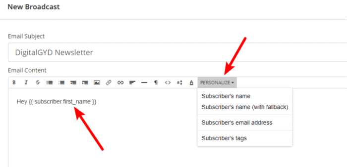 How to send personalized emails with ConvertKit