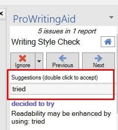 How to use ProWritingAid MS Word addin