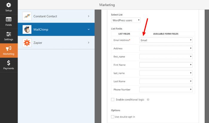 WPForms Review 2019:  Email marketing integration with WPForms