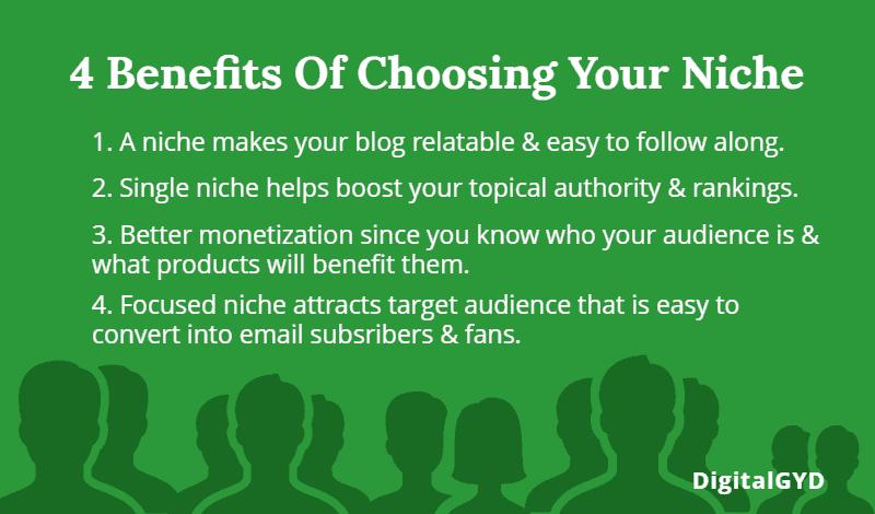 Why choose a blog niche? 4 benefits