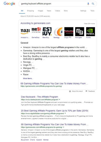 Using Google to find affiliate programs to monetize your blog