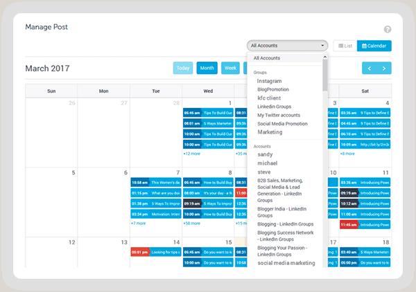 SocialPilot calendar feature review